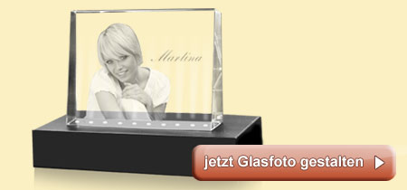glasfoto mit beleuchtung dekoration bild idee. Black Bedroom Furniture Sets. Home Design Ideas